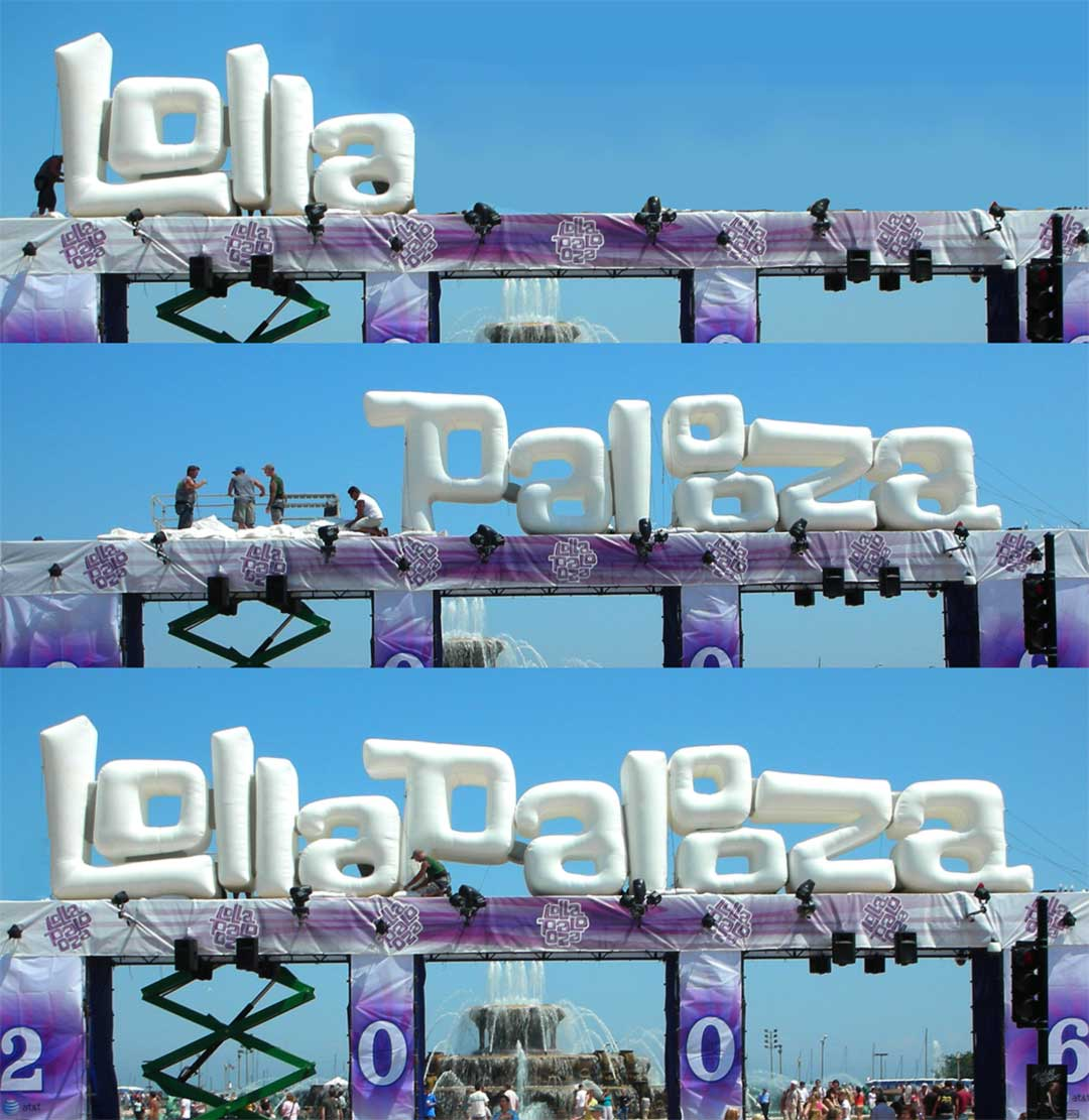 Lollapalooza build out experiential activation event design