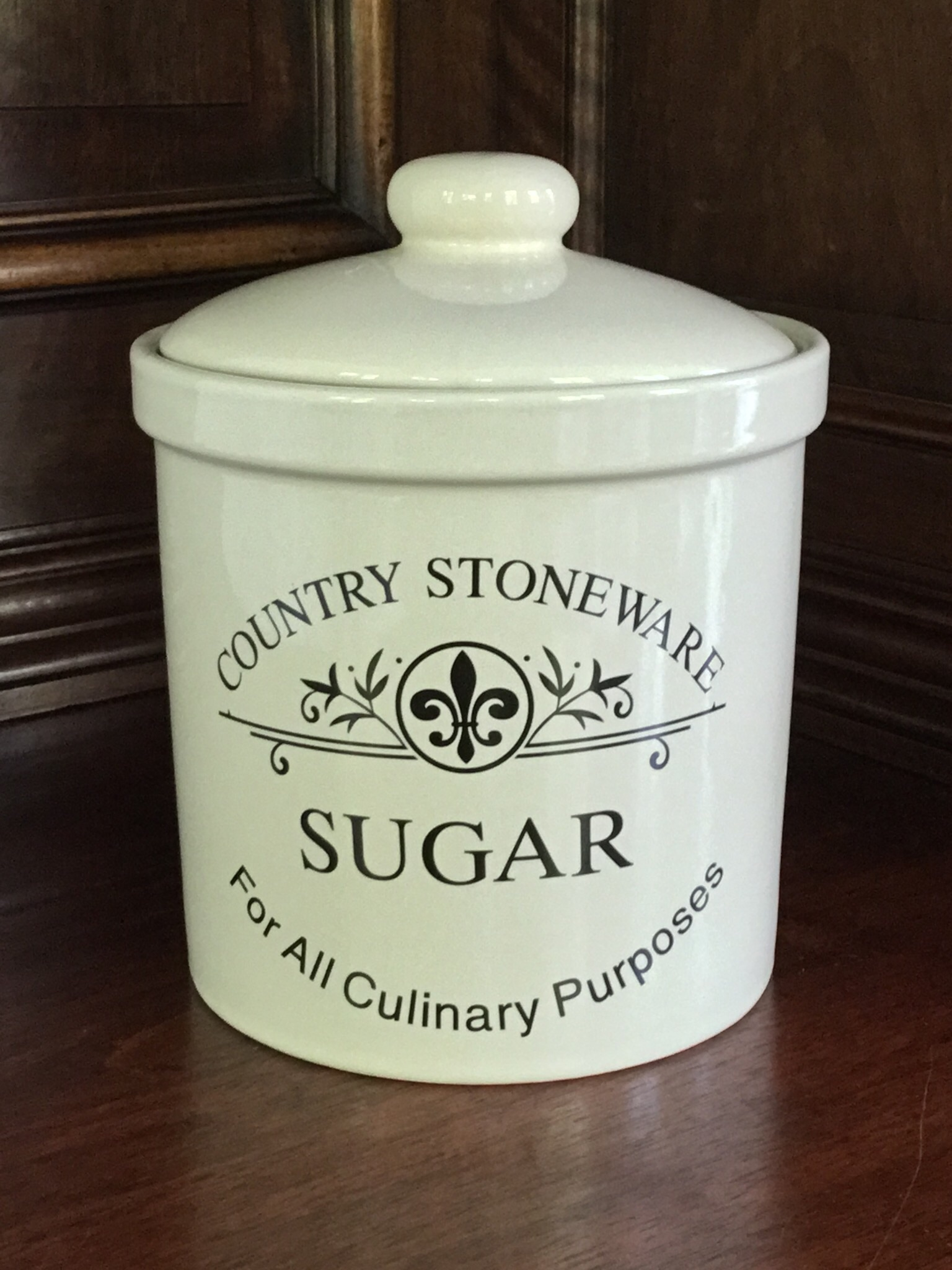 Country Stonware Sugar Canister