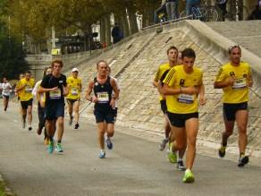 Les jaunes, ce sont les 10 km !