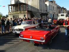 Croisement de voitures sur le pont de la Besbre.