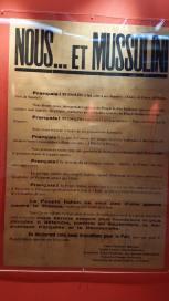Des immigrés italiens affirment leur attachement à la France et leur opposition au fachisme.