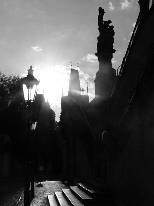 Prague à contre-jour.