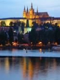 La Vltava, à Prague, au crépuscule.