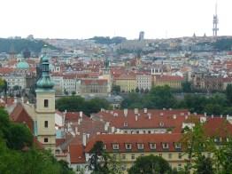Sur les toits de Prague.