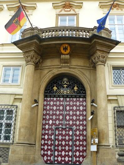 L'ambassade allemande à Prague
