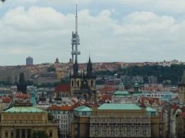 La tour de télévision de Prague a été construite entre 1985 e t 1992.