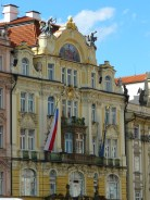 Dans la vieille ville de Prague.
