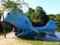 La baleine de Catoosa, avant l'arrivée à Tulsa, est le témoin d'une ancienne aire de loisirs aménagée dans les années 60, lorsque la Route 66 était synonyme de route des vacances.