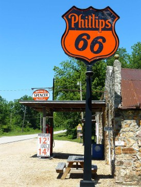 Encore une station essence abandonnée du Missouri.