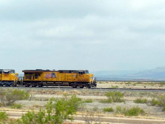 Des trains interminables traversent le Nouveau-Mexique.