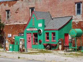 Une station essence rénovée, dans l'Oklahoma.
