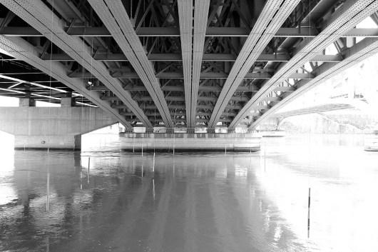 Sous le pont de la Mulatière.