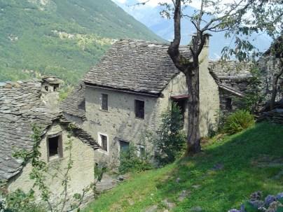 Maisons en pierres caractéristiques.