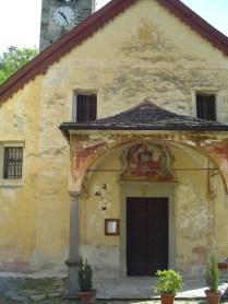 L'église de san marco, hameau en contrebas de Bognanco.