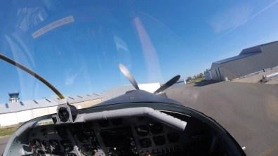 Lors du décollage.