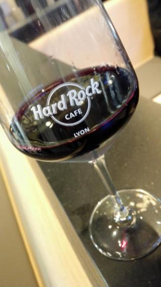 Le vin rouge du Hard Rock Café Lyon