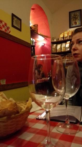 Même le vin de la maison est bon !