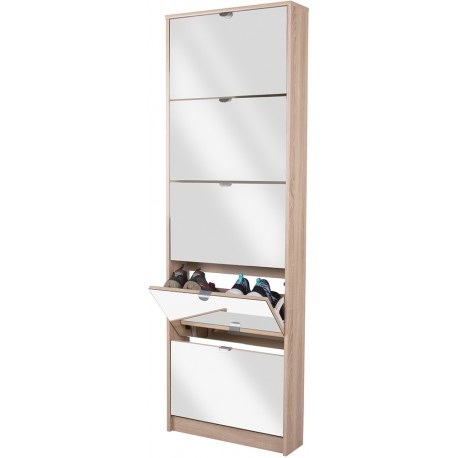 armoire a chaussures face miroirs