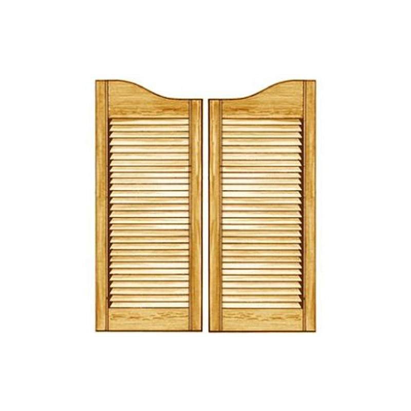 set 2 portes saloon en pin massif