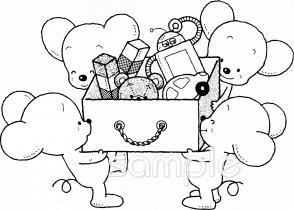 後片付け おもちゃ箱イラストなら、小学校・幼稚園向け・保育園向けの