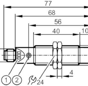Boîtier de contrôle compact pour le contrôle de vitesse de rotation Ifm DI6001