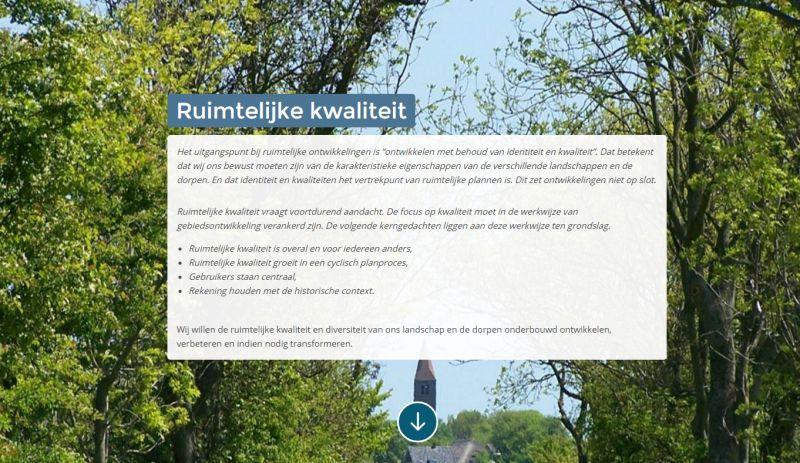 ´Eén van de pagina´s uit de omgevingsvisie van Hollands Kroon´
