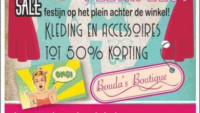Photo of Aanstaande zaterdag pleinfeest bij Bouda's Boutique in Middenmeer