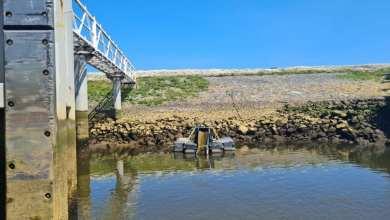 Photo of Veilig paling onderzoeken bij sluis Den Oever
