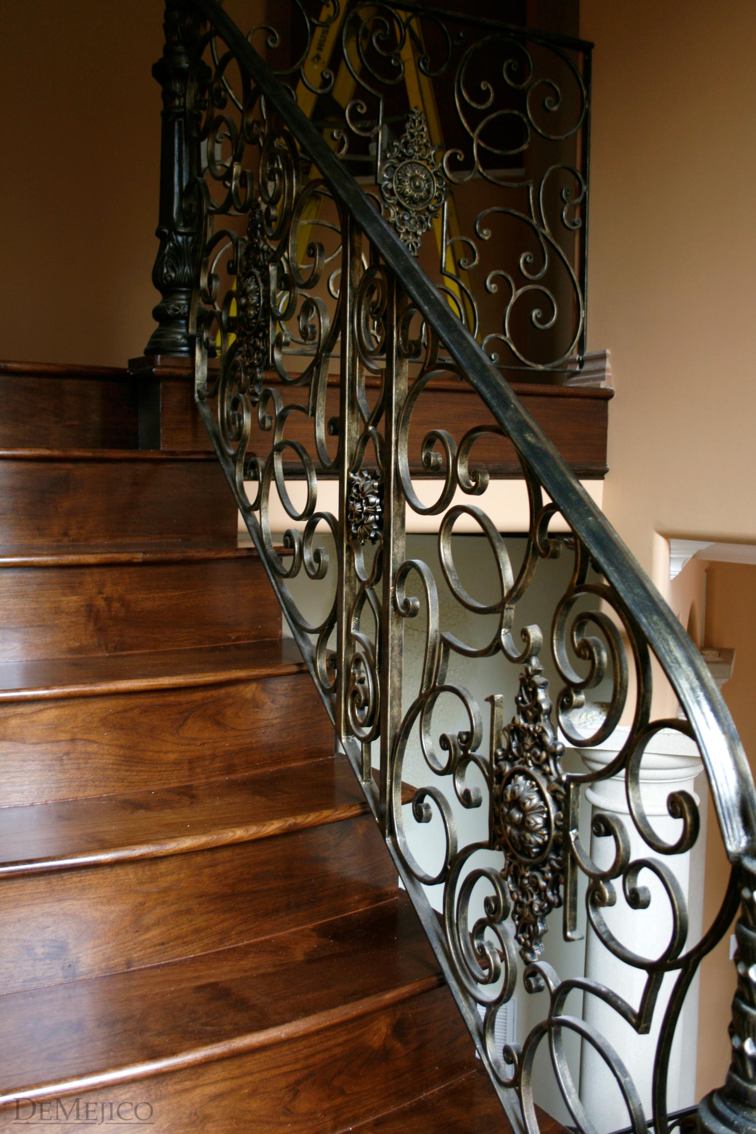 forged iron staircase railing