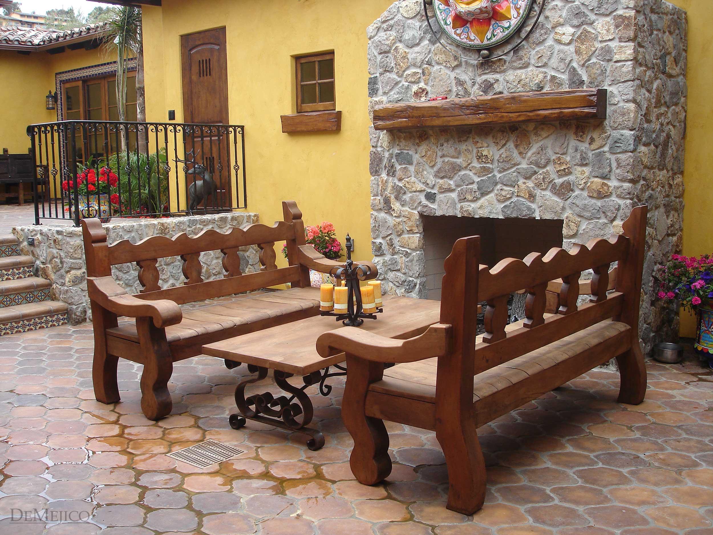 Spanish Furniture, Spanish Outdoor Furniture - Demejico on Mexican Backyard Decor id=29452