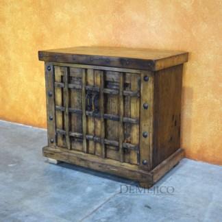 Old World rustic vanity table