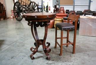 iron base bar table