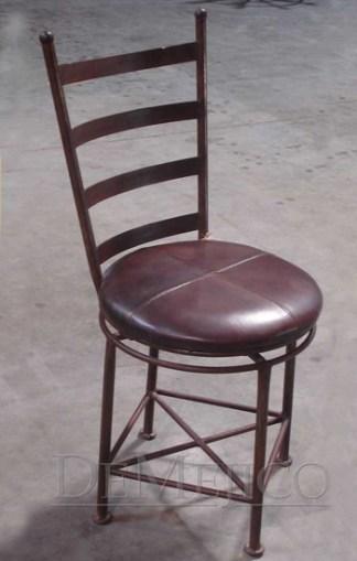 wrought iron swivel chair