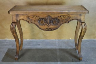 hand carved console table