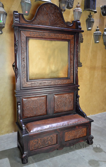 Spanish Entry Bench Hall Tree Demejico