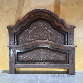 western tooled leather bed