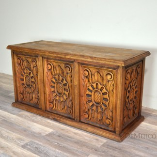 carved colonial desk