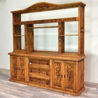 Rustic entertainment center Mexican living room furniture Small entertainment stand Reclaimed wood entertainment center Rustic entertainment centers