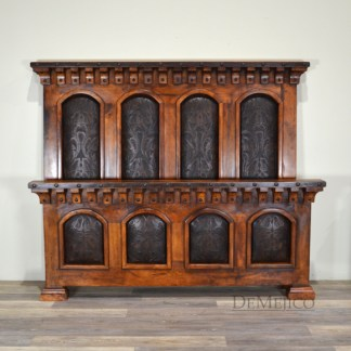 Tooled Leather Bed, Tall Headboard