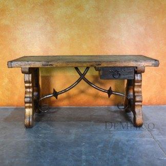 Escritorio Yugos, Rustic Old Door Desk, Rustic Desk
