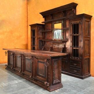 Copper Panel Bar, Large Spanish Bar, Restaurant Furniture