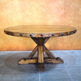 Large Rustic Round Table, Spanish Round Table