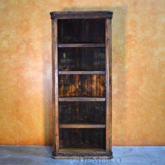 Alamo Corner Bookcase, Old Wood Bookcase