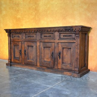 Valentina Buffet, Tuscan Buffet Table, Carved Buffet Table
