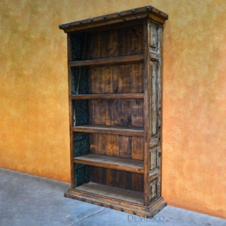 old wood bookcase