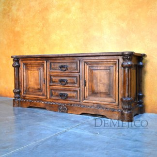 Concha Spanish TV Stand, Old World TV Stand