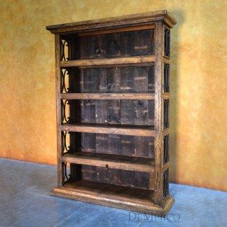 5ft Espanola Bookcase, Rustic Bookcase, Large Spanish Bookcase