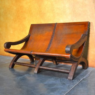 Banca Nayarit, Spanish Benches, Leather Lounge Bench