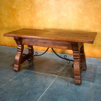 Mesquite Escritorio Yugos, Spanish Desk, Hand Carved Desk