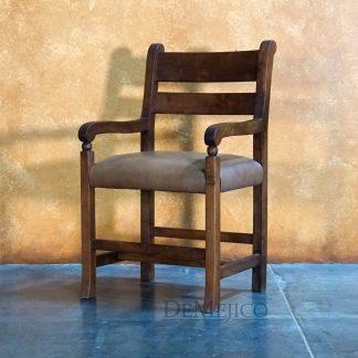 Silla Hacienda with Arms, Spanish Ladder Back Chair